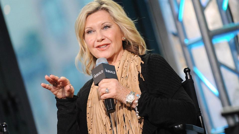 "Olivia Newton-John is urging critics to 'relax' amid claims that ""Grease"" was ""sexist."" (Image via Getty Images)"