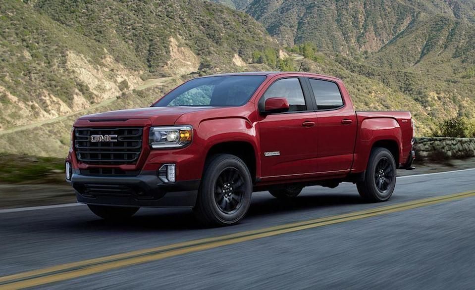 "<p>The <a href=""https://www.caranddriver.com/gmc/canyon"" rel=""nofollow noopener"" target=""_blank"" data-ylk=""slk:GMC Canyon"" class=""link rapid-noclick-resp"">GMC Canyon</a> is what to get when you know exactly what you want in a mid-size pickup, with a comforting amount of Lego-brick configurability. There are two cabs for two beds and three available engines including the 308-hp V-6, which comes highly recommended, making <a href=""https://www.caranddriver.com/reviews/a15097575/2017-gmc-canyon-v-6-4x4-test-review/"" rel=""nofollow noopener"" target=""_blank"" data-ylk=""slk:this truck one of the quickest we've tested"" class=""link rapid-noclick-resp"">this truck one of the quickest we've tested</a>. The Canyon loses its optional six-speed manual transmission for 2020 but keeps its excellent suspension damping and road feel that we've come to love. The Canyon can tow up to 7700 pounds in crew-cab diesel-powered configuration. It's a great truck that can be had for cheaper in Chevy form. <a class=""link rapid-noclick-resp"" href=""https://www.caranddriver.com/gmc/canyon/specs"" rel=""nofollow noopener"" target=""_blank"" data-ylk=""slk:MORE GMC CANYON SPECS"">MORE GMC CANYON SPECS</a></p><ul><li>Base price: $27,595</li><li>Powertrain: 186-hp 2.8L turbo-diesel inline-4, 200-hp 2.5L inline-4, 308-hp 3.6-liter V-6</li><li>Max Towing: 7700 lb</li></ul>"