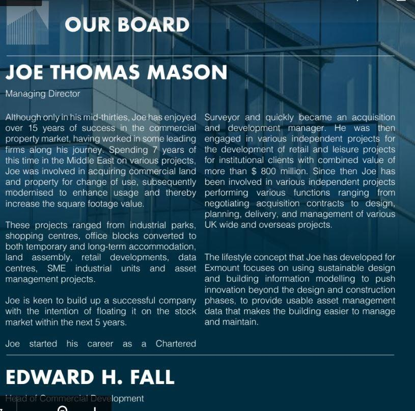Exmount's brochure, which was signed off by an FCA-approved person, claimed the company's director was a chartered surveyor. He was in fact a gardenerExmount