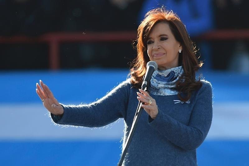 Media reports in Argentina say millions of dollars in bribe money was delivered to various official addresses, allegedly including the residence of former president Cristina Kirchner, seen here in a 2017 file photo