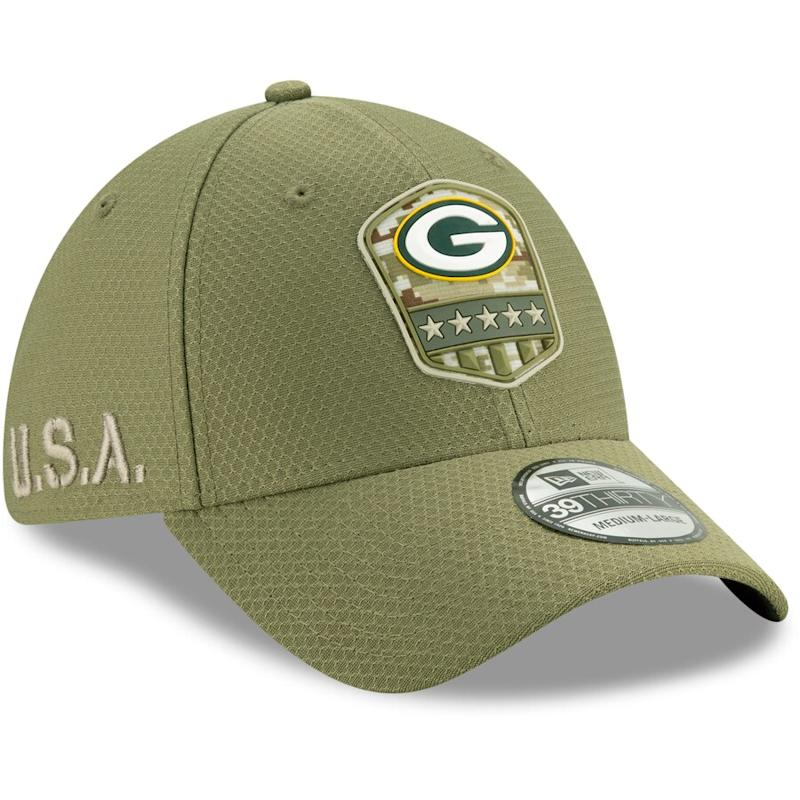 Packers 2019 Salute to Service Sideline Flex Hat