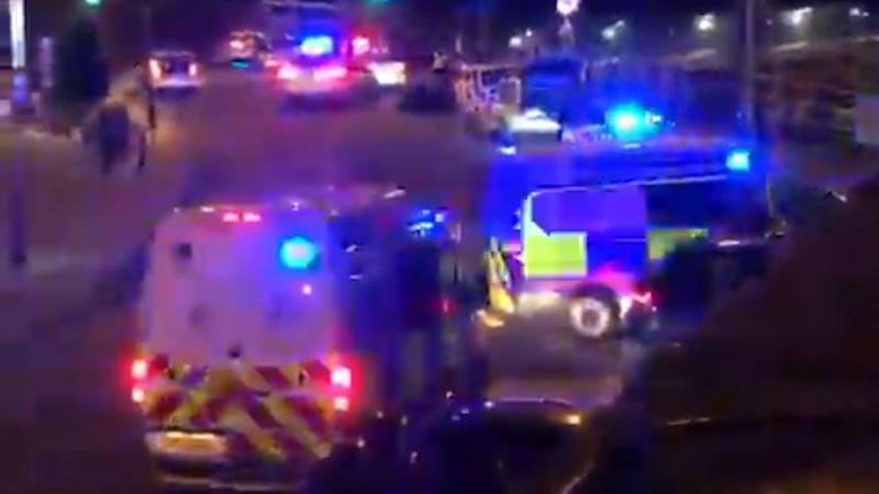 There was a large scale police presence in Shoreham on Saturday night. Pic: Brighton Argus