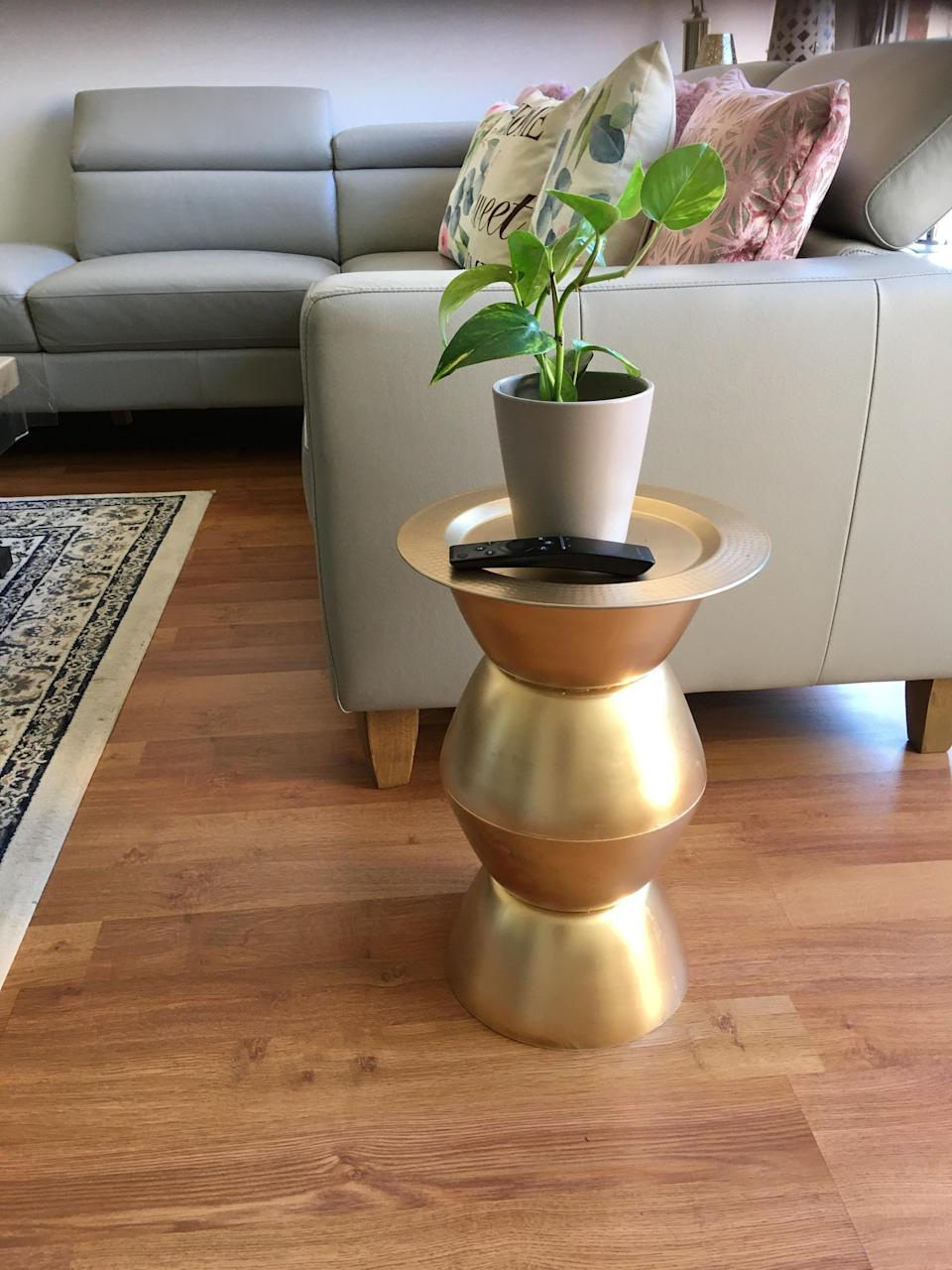 The finished product made a chic addition to Kiran's living room. Photo: Facebook (supplied).
