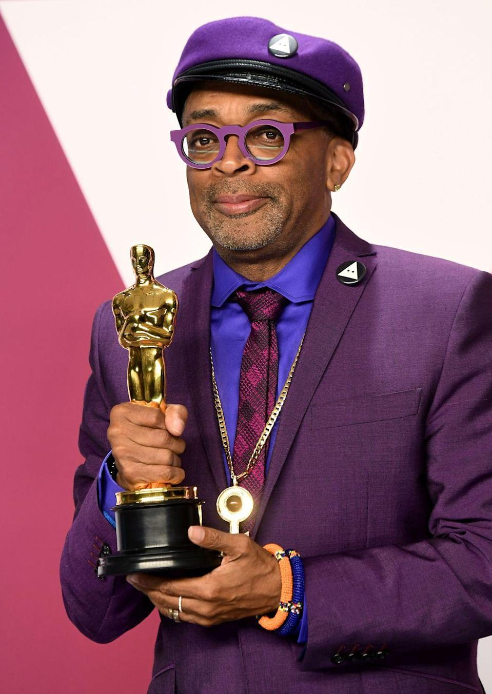 <p>Lee received his first Oscar this year for <em>BlacKkKlansman</em></p>