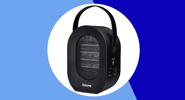 This portable heater has a five star rating and is on sale for a limited time only. [Photo: Yahoo Style UK]