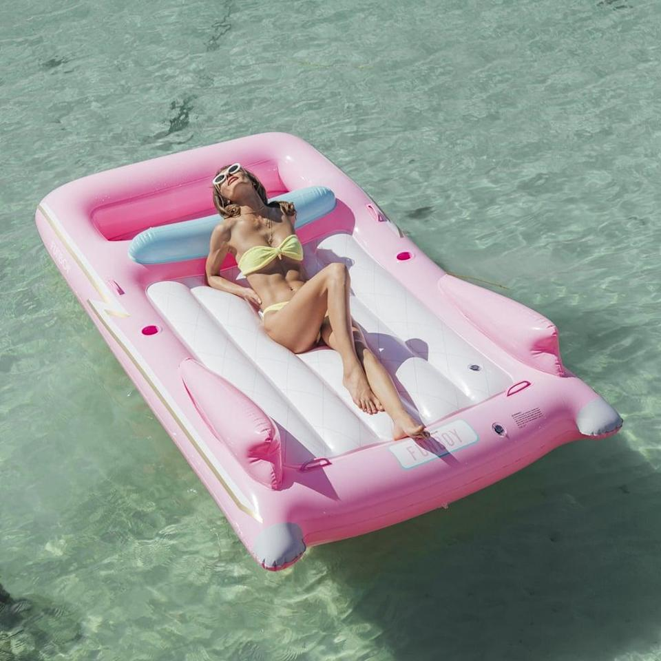 <p>Transport yourself to the '70s with this trendy <span>Funboy Retro Pink Convertible Pool Float</span> ($119). It has a massive front storage area for ice, drinks, speakers, and more.</p>