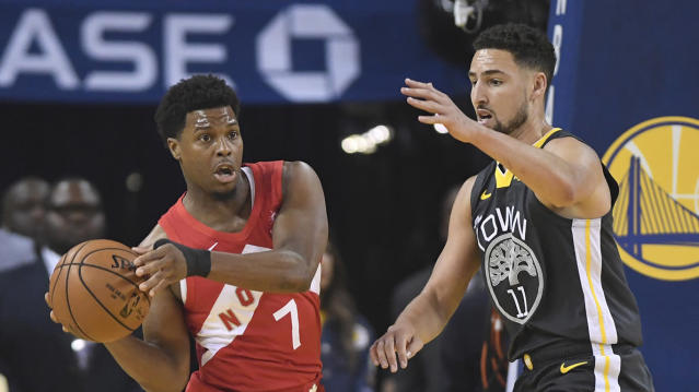 Toronto Raptors guard Kyle Lowry is off to an excellent start to Game 6, trying to lead the team to their first championship in franchise history. THE CANADIAN PRESS/Frank Gunn