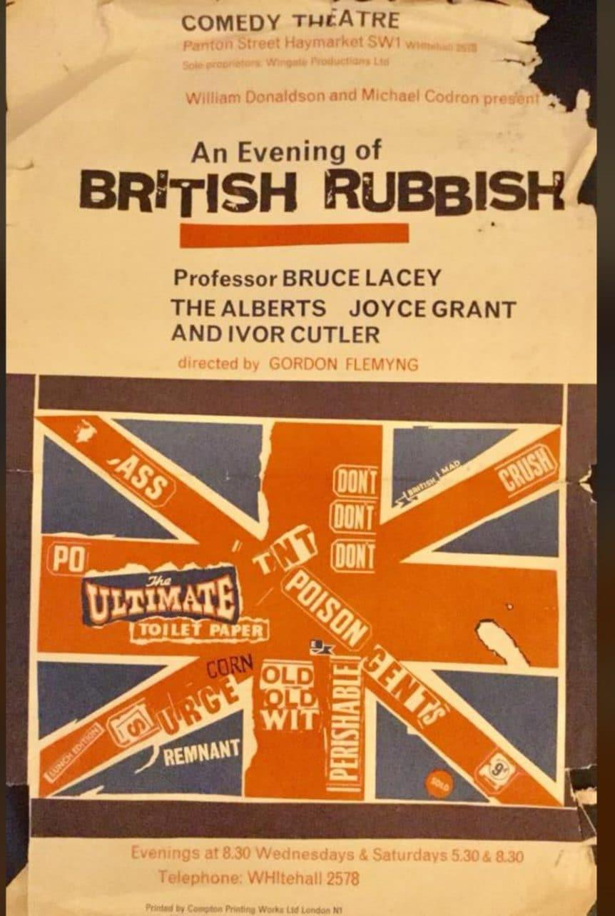 Original poster for An Evening of British Rubbish