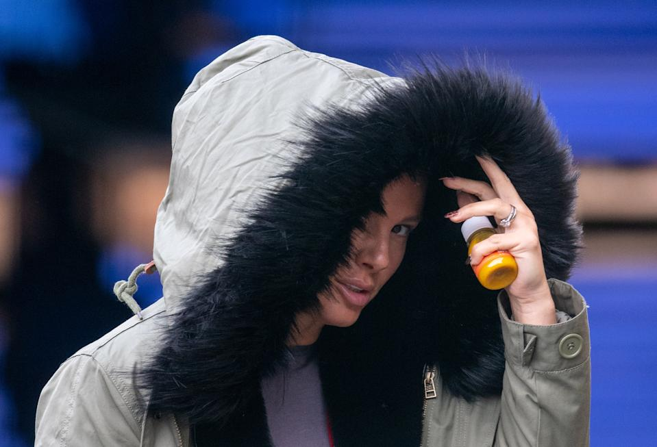 Rebekah Vardy arrives for a training session at the National Ice Centre in Nottingham as she prepares to take part in Dancing On Ice 2021, as the first High Court hearing in Ms Vardy's high-profile libel battle against Coleen Rooney is taking place in London.