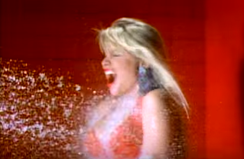 "Bobbie Brown in Warrant's ""Cherry Pie"" music video. (Photo: Sony Music Label Group)"