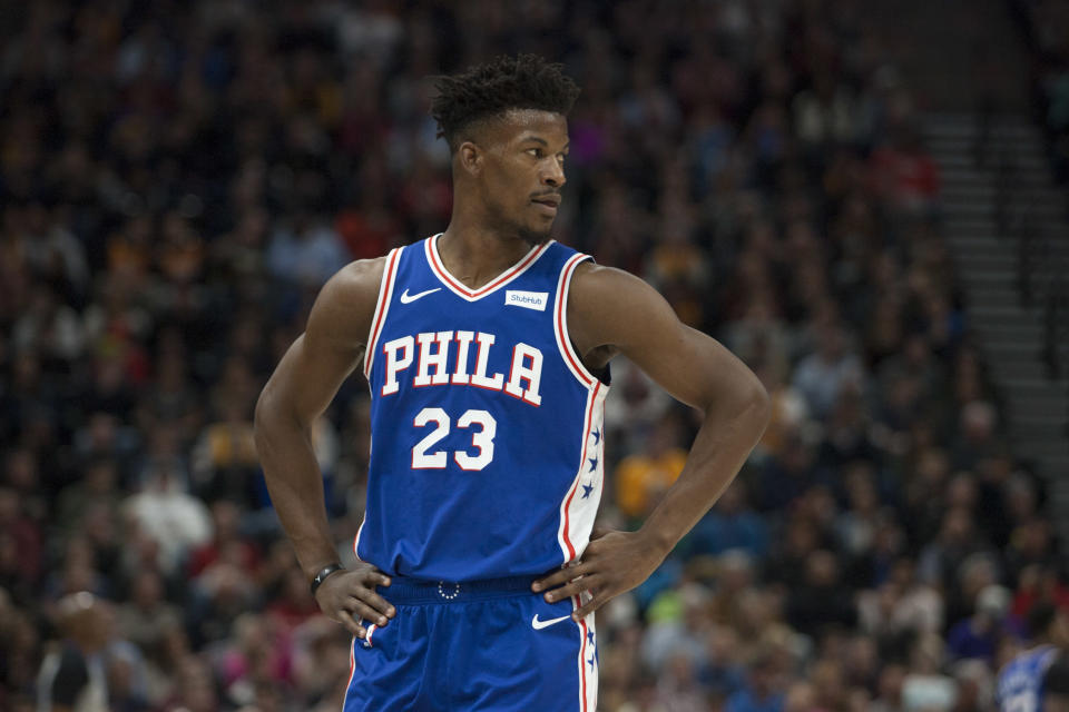 Jimmy Butler let his frustration get the best of him. (Getty Images)