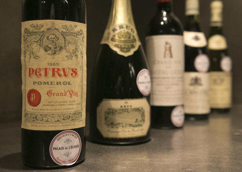 French president's wine auctioned to raise funds