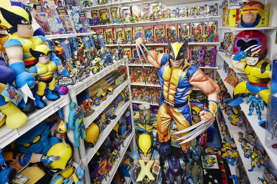 <p>It's unsurprising to hear that Eric Jaskolka needed a separate room to store his collection, with 15,400 items. (PA) </p>