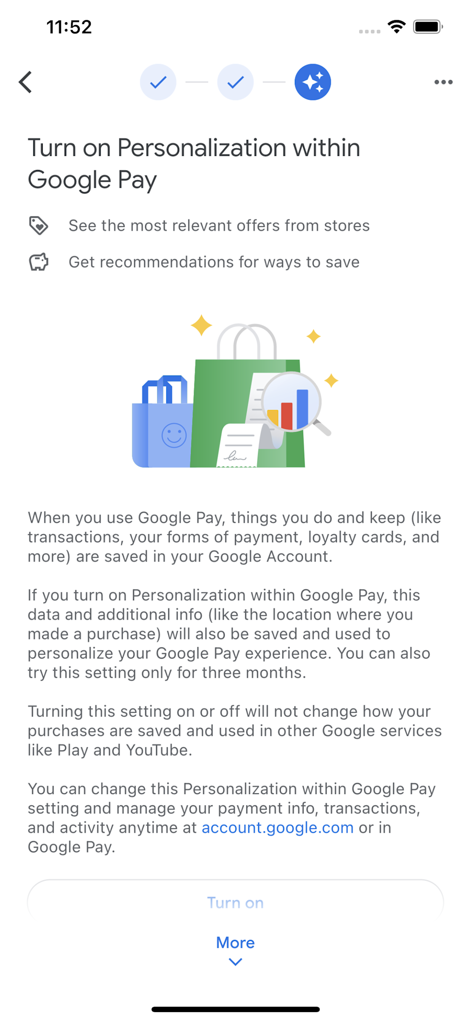 Google Pay's personalization