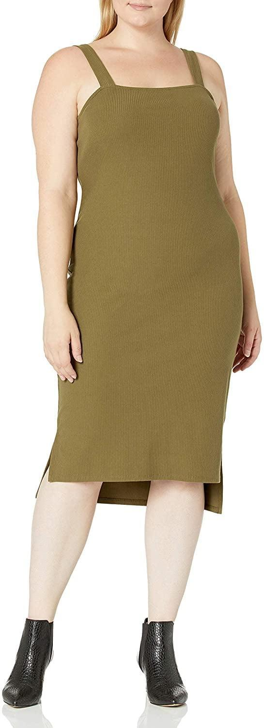 <p>This <span>The Drop Amelia Square Neck Strappy Bodycon Midi Tank Dress</span> ($40) exudes understated elegance with the square neck and fitted yet stretchy fabric. We would recommend styling it with mules or tall riding boots and a trench coat.</p>