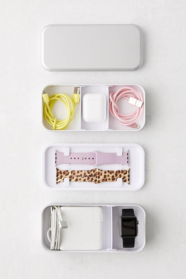 """<p>You can even keep your tech in order with this <a href=""""https://www.popsugar.com/buy/BentoStack-Tech-Organizer-531868?p_name=BentoStack%20Tech%20Organizer&retailer=urbanoutfitters.com&pid=531868&price=40&evar1=casa%3Aus&evar9=46390211&evar98=https%3A%2F%2Fwww.popsugar.com%2Ffood%2Fphoto-gallery%2F46390211%2Fimage%2F47210960%2FBentoStack-Tech-Organizer&list1=shopping%2Corganization%2Chome%20organization%2Chome%20shopping&prop13=api&pdata=1"""" rel=""""nofollow"""" data-shoppable-link=""""1"""" target=""""_blank"""" class=""""ga-track"""" data-ga-category=""""Related"""" data-ga-label=""""https://www.urbanoutfitters.com/shop/bentostack-tech-organizer?category=SEARCHRESULTS&amp;color=007"""" data-ga-action=""""In-Line Links"""">BentoStack Tech Organizer</a> ($40).</p>"""
