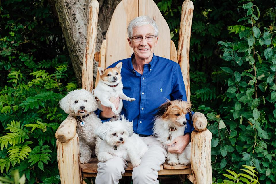 Paul O'Grady with his hounds
