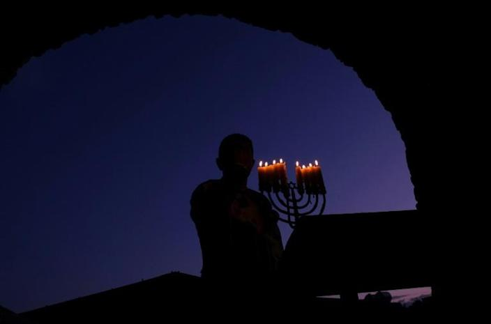 The restoration of the tomb started almost three years ago and is due to be completed by May (AFP Photo/SAFIN HAMED)