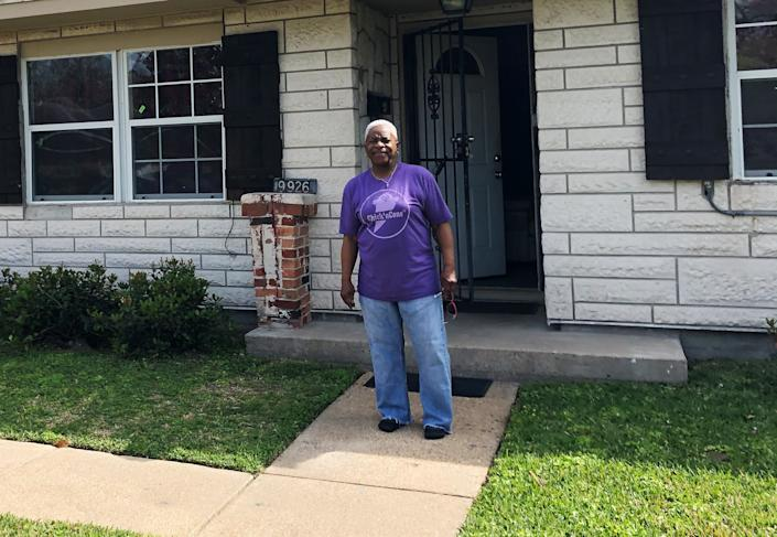Doris Brown and her eight siblings all grew up in this house in northeast Houston. After Hurricane Harvey's floodwaters, mold destroyed walls inside. (Photo: Sophie Kasakove)