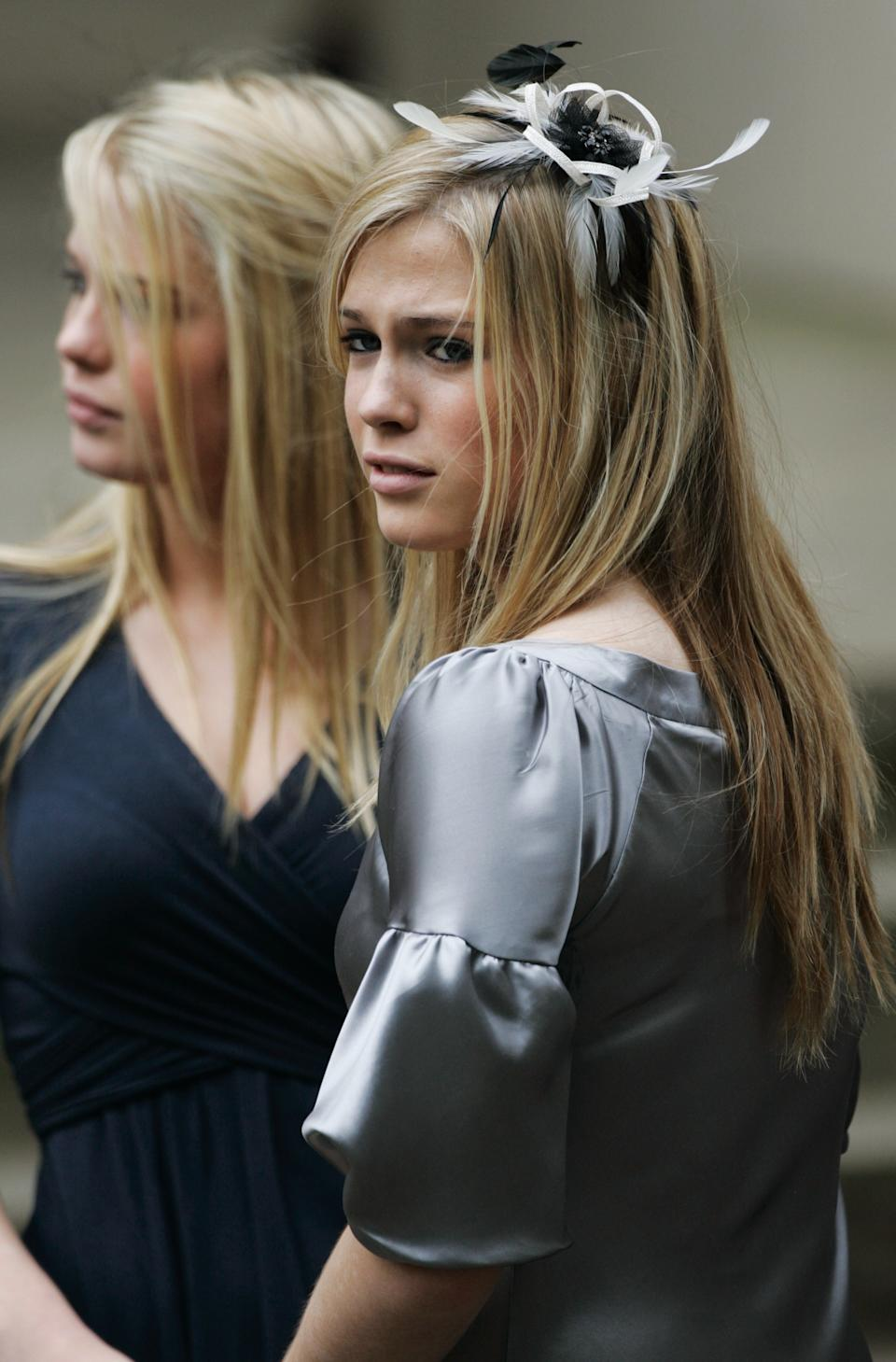 LONDON, ENGLAND - AUGUST 31: Diana's neices Amelia Spencer and Eliza Spencer at the 10th Anniversary Memorial Service For Diana, Princess of Wales at Guards Chapel at Wellington Barracks on August 31, 2007 in London, England. (Photo by Tim Graham Photo Library via Getty Images)
