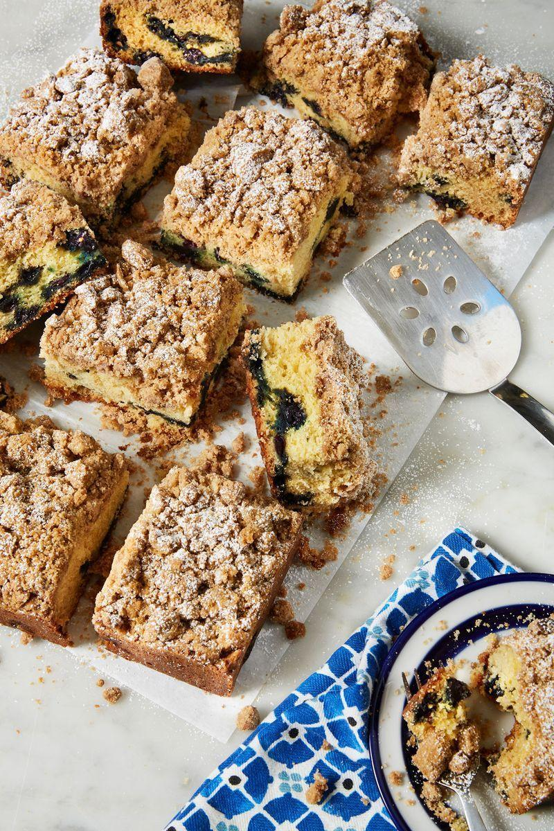 """<p>If we could eat this Blueberry <a href=""""https://www.delish.com/uk/cocktails-drinks/a30116467/how-to-make-coffee/"""" rel=""""nofollow noopener"""" target=""""_blank"""" data-ylk=""""slk:Coffee"""" class=""""link rapid-noclick-resp"""">Coffee</a> Cake every single day we would. It's soft and light with the perfect amount of cake to crumble ratio. The blueberry swirl within adds a pop of freshness that your morning needs. </p><p>Get the <a href=""""https://www.delish.com/uk/cooking/recipes/a31730825/blueberry-coffee-cake-recipe/"""" rel=""""nofollow noopener"""" target=""""_blank"""" data-ylk=""""slk:Blueberry Coffee Cake"""" class=""""link rapid-noclick-resp"""">Blueberry Coffee Cake</a> recipe. </p>"""
