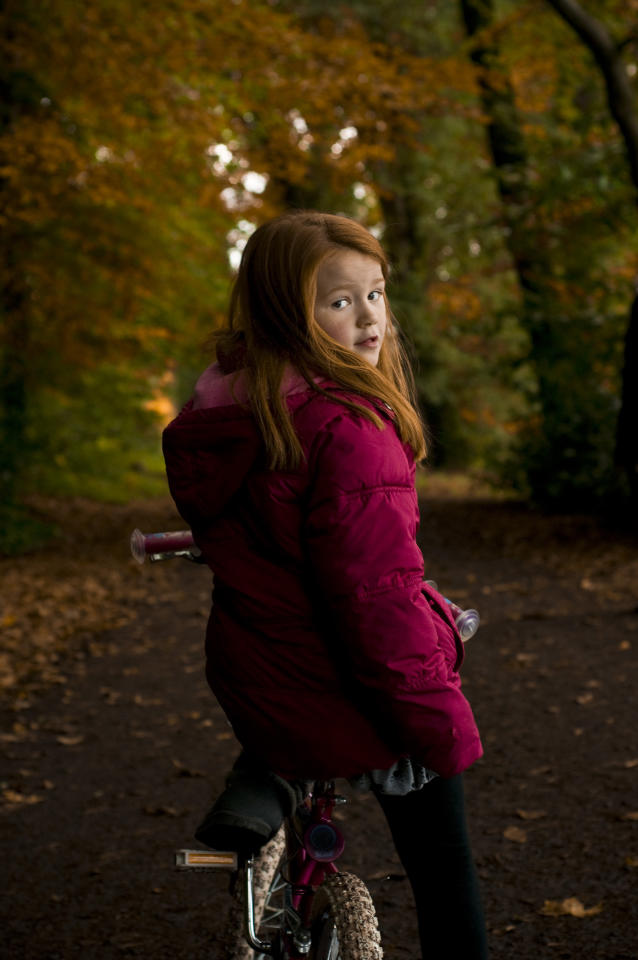 Natural Light Portraiture – Ryan McDonald, County Downs: 'The autumn leaves complement the colour of the girl's hair beautifully and her expression is wonderfully natural'. (Ryan McDonald/Amateur Photographer)