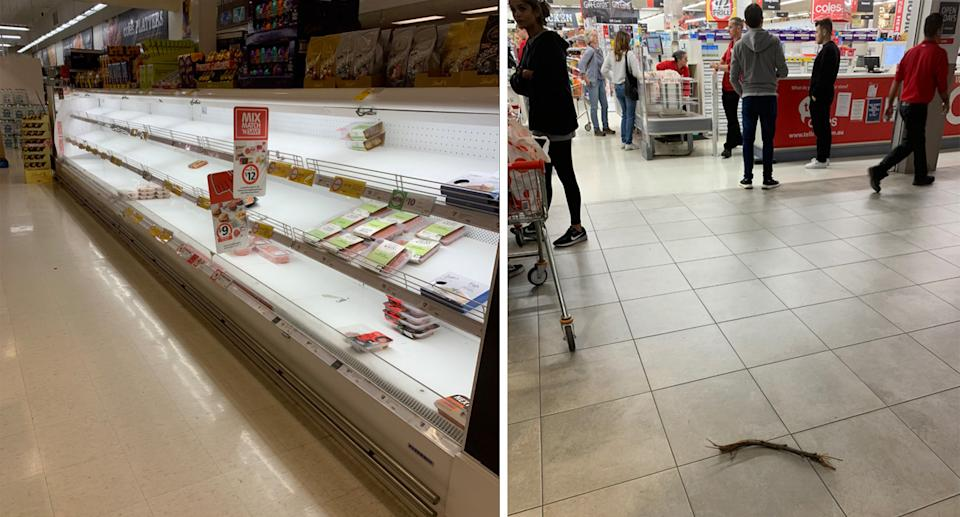 Coles has implored shoppers to respect staff and others. Source: Supplied