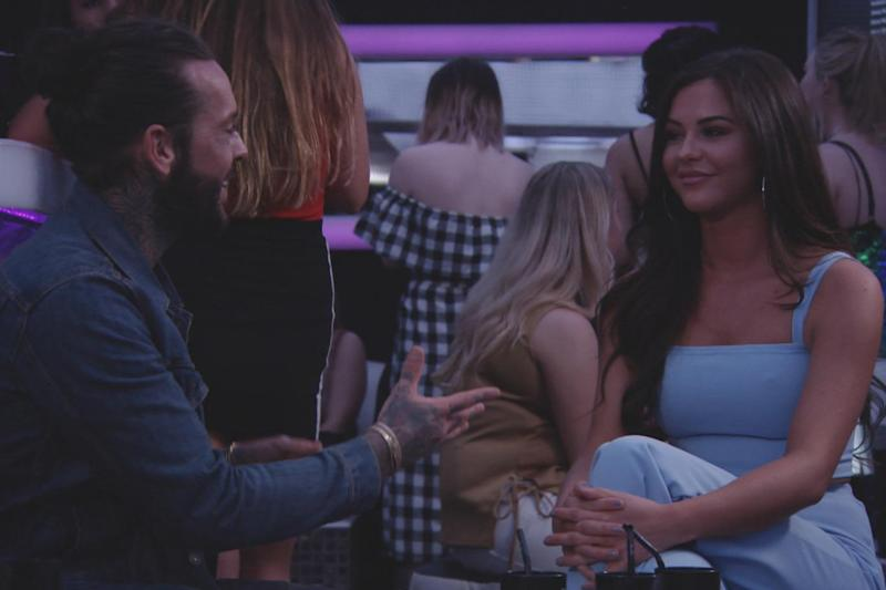 Loved up: Pete Wicks with his girlfriend Shelby Tribble on TOWIE (ITV)