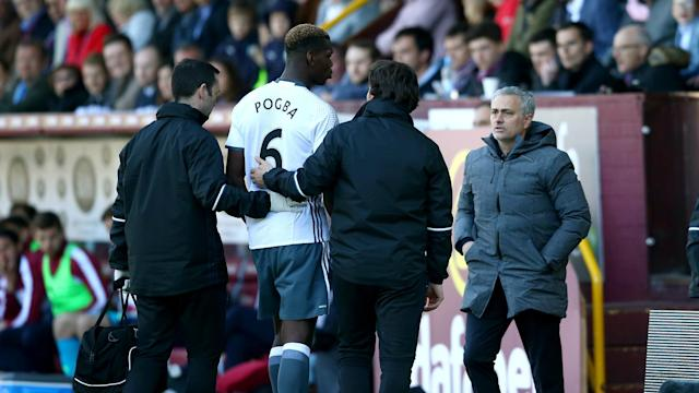 Paul Pogba is a doubt for Thursday's derby between Manchester United and Manchester City, says Jose Mourinho.