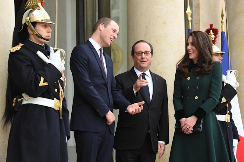 The Royal couple are on an official visit to France (PA)