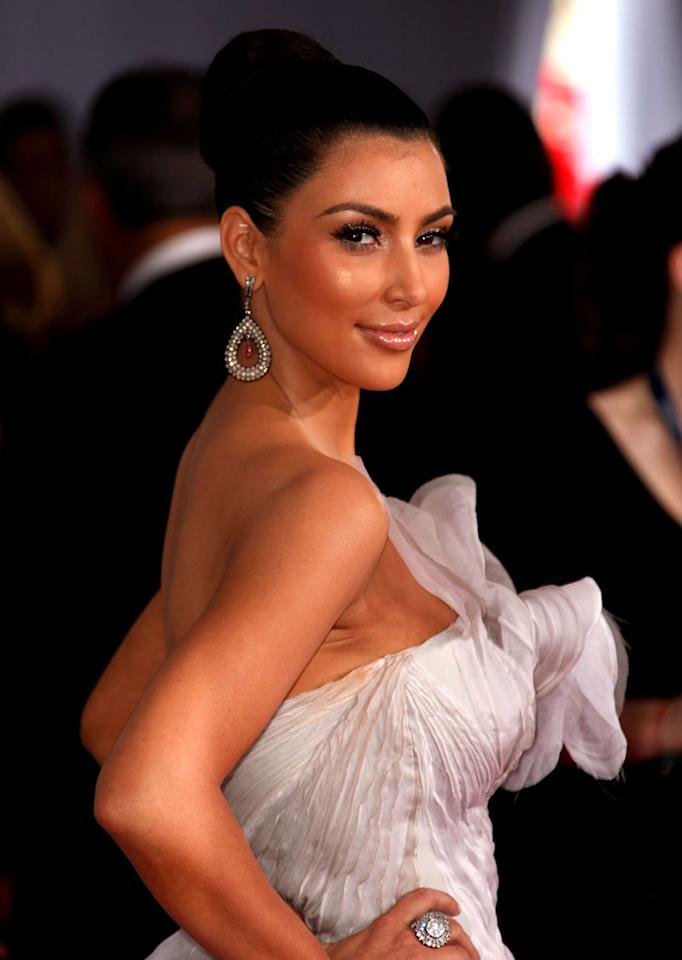"""<a href=""""/kim-kardashian/contributor/2220832"""">Kim Kardashian</a> arrives at the 51st Annual Grammy Awards at the Staples Center on February 8, 2009, in Los Angeles."""