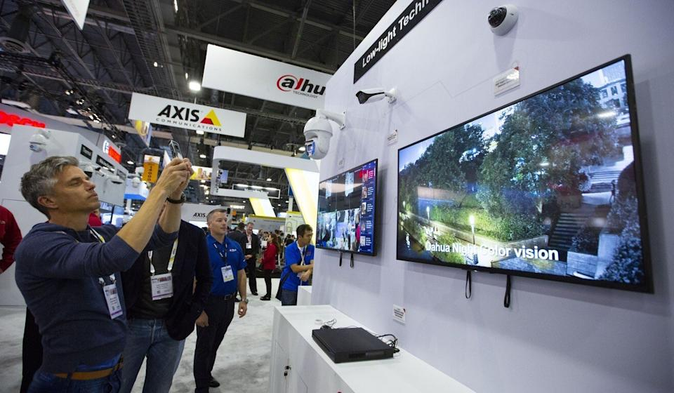 Dahua is China's second-largest surveillance equipment maker, behind Hikvision. Both companies have been blacklisted by the US. Photo: Xinhua