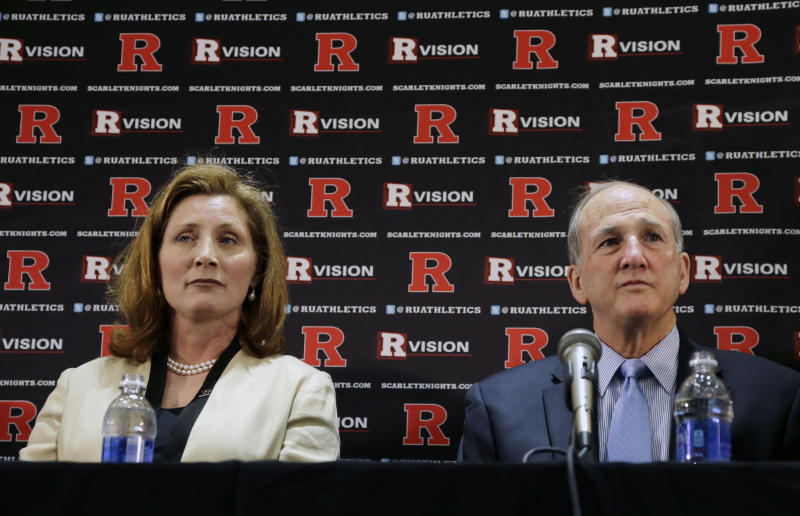 Rutgers president gets governor's backing