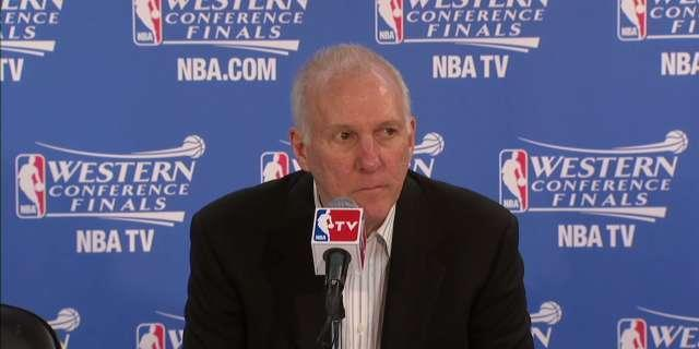 Gregg Popovich won't answer reporter's question after Game 5 win
