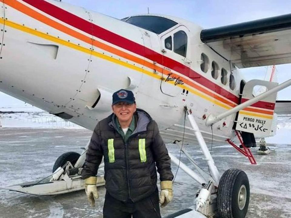 Renowned Inuk bush pilot Johnny May Sr. recently passed 40,000 hours of flying time. The 76-year-old, who has been flying for 59 years, has no intention of stopping any time soon. (Johnny Adams/Canadian North Airlines - image credit)