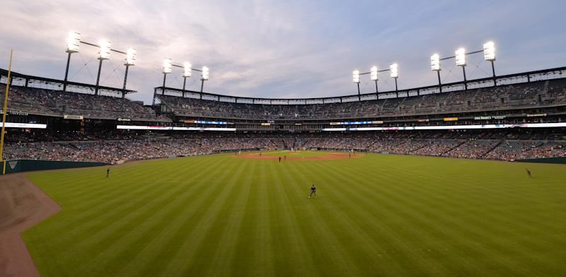 DETROIT, MI - JUNE 14: A general view of Comerica Park during the game between the Arizona Diamondbacks and the Detroit Tigers at Comerica Park on June 14, 2017 in Detroit, Michigan. The Diamondbacks defeated the Tigers 2-1. (Photo by Mark Cunningham/MLB Photos via Getty Images)