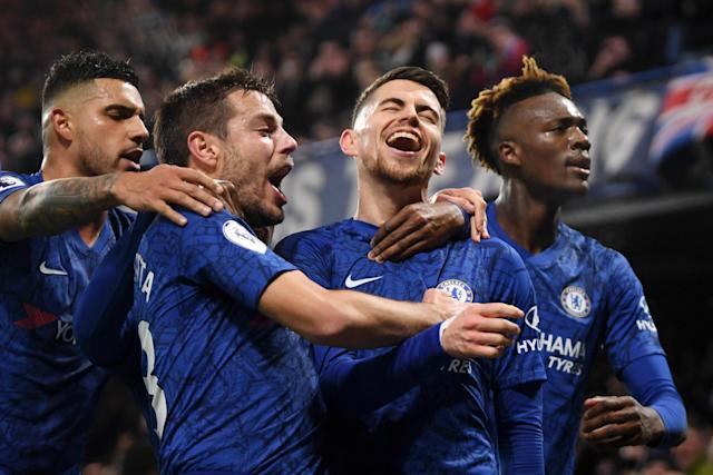 Chelsea are in pole position to qualify for the Champions League Photo: Getty Images