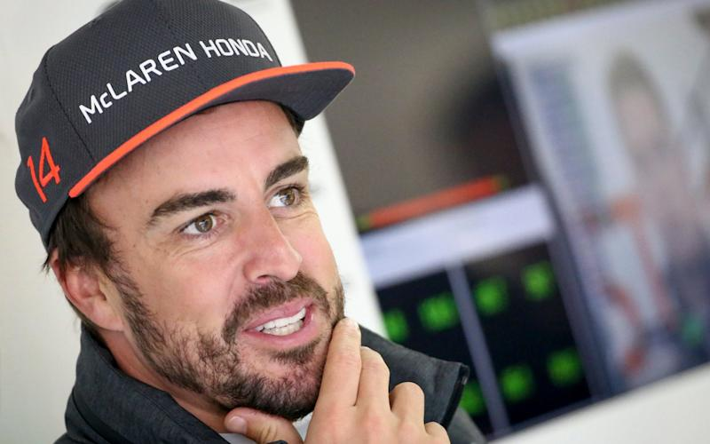 Spanish Formula One driver Fernando Alonso of McLaren-Honda inside the team garage during the first practice session ahead of the Chinese Formula One Grand Prix at the Shanghai International circuit in Shanghai, China, 07 April 2017. The 2017 Chinese Formula One Grand Prix will take place on 09 April. EPA/DIEGO AZUBEL - Credit: DIEGO AZUBEL/EPA