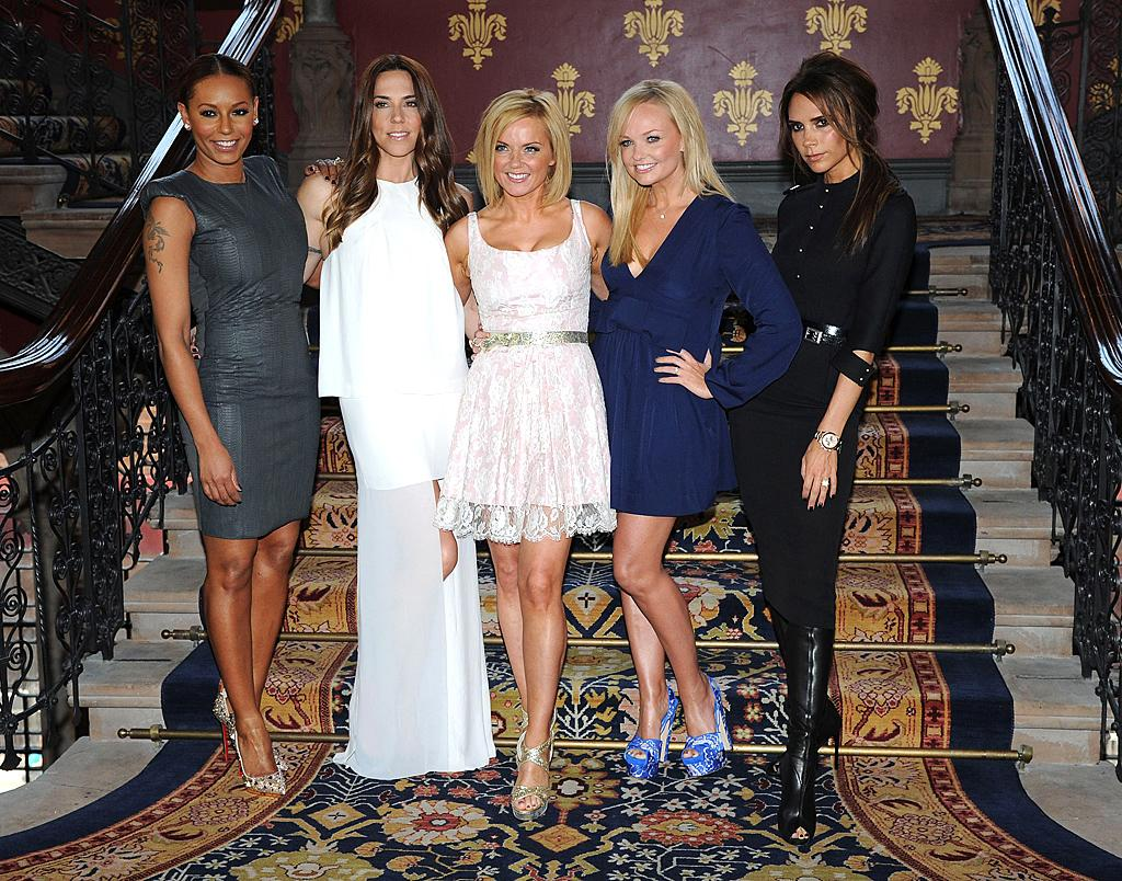 "On Tuesday, all five members of the Spice Girls reunited in London to announce the upcoming launch of ""Viva Forever,"" a jukebox musical based on their top pop hits, which was written by ""Ab Fab's"" Jennifer Saunders. Which one of the ladies: Mel B. (in Lanvin), Mel C. (in Acne), Geri, Emma, or Victoria (in Victoria Beckham) looked best? We're leaning towards Sporty ... especially because she got that snaggle tooth fixed. (6/26/2012)"