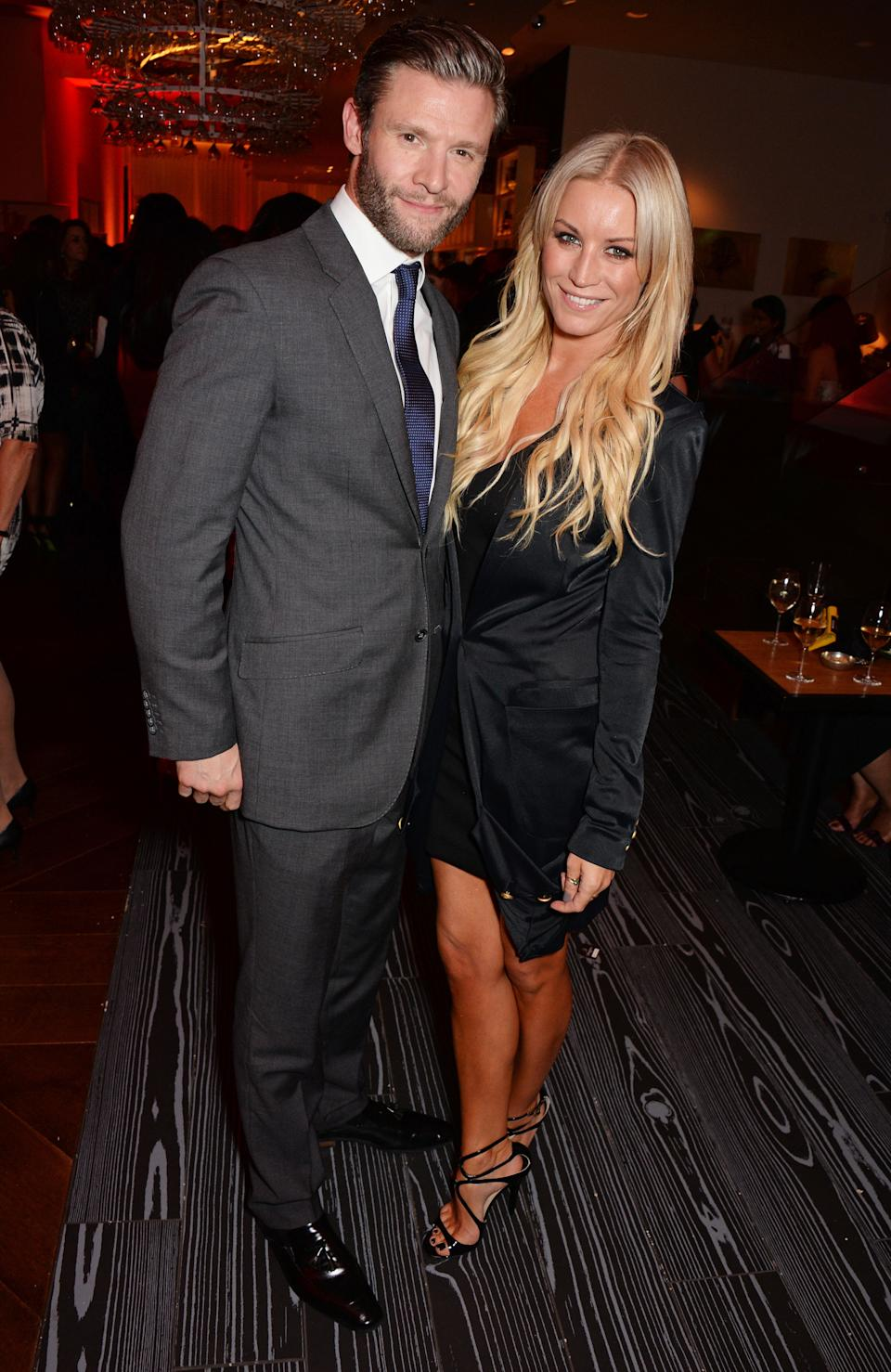 LONDON, ENGLAND - OCTOBER 14:  Eddie Boxshall (L) and Denise Van Outen attend a party hosted by Jonathan Shalit to celebrate his OBE at Avenue on October 14, 2014 in London, England.  (Photo by David M. Benett/Getty Images)