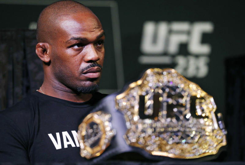 Is this it for Jon Jones and the UFC? (AP Photo/John Locher)