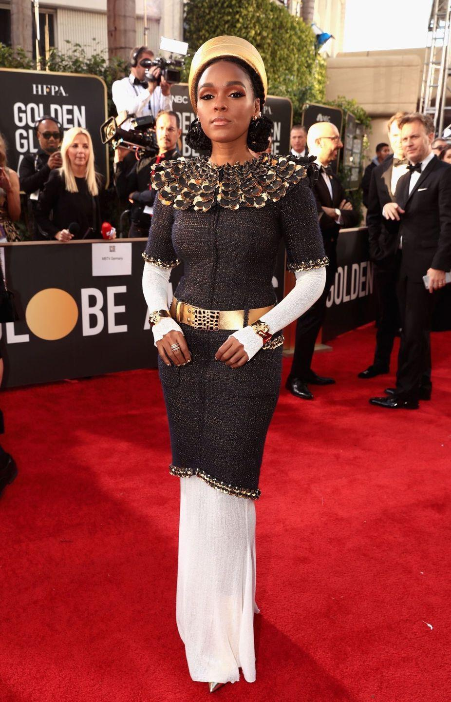 <p>Janelle Monae really went for it in this tweed Chanel look for the 76th Golden Globes. But it just goes to show—what works on the runway doesn't always win on the red carpet.</p>
