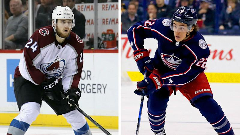 Blue Jackets' Milano, Avs' Greer arrested in NY brawl