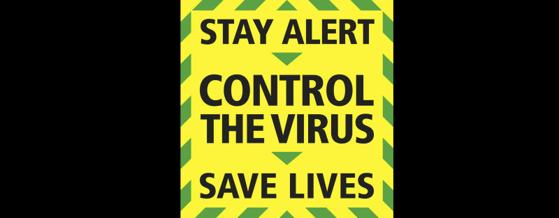 "This image issued by Downing Street on Sunday, May 10, 2020, shows Britain's Prime Minister Boris Johnson's new ""stay alert"" slogan to tackle coronavirus. The British government has replaced its ""stay at home"" coronavirus slogan with a new ""stay alert"" message that met criticism ahead of a speech by the Prime Minister laying out stages for lifting the country's lockdown. (Downing Street via AP)"