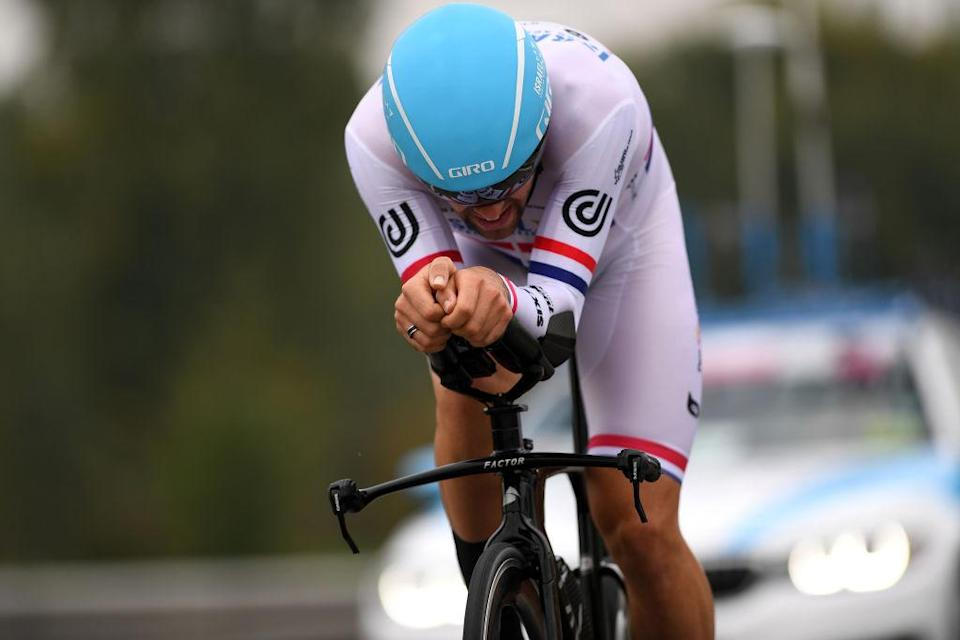 MILANO ITALY  OCTOBER 25 Alex Dowsett of The United Kingdom and Team Israel StartUp Nation  during the 103rd Giro dItalia 2020 Stage 21 a 157km Individual time trial from Cernusco sul Naviglio to Milano  ITT  girodiitalia  Giro  on October 25 2020 in Milano Italy Photo by Tim de WaeleGetty Images