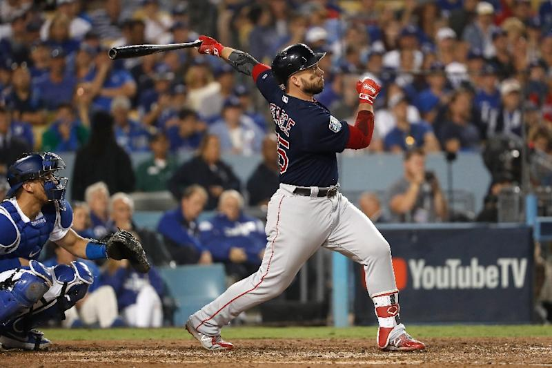 6a614fbb2 Steve Pearce smashes the second of two home runs as the Boston Red Sox  dominate the