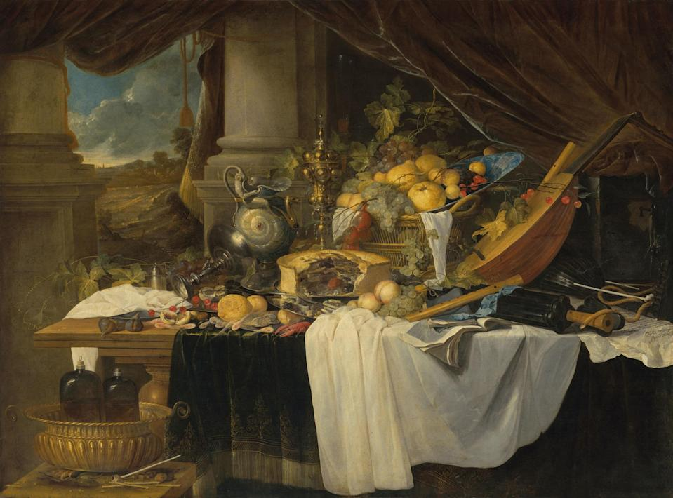 'A banquet still life1 by Jan Davidsz. de Heem could fetch up to $7.9 million when it goes up for auction at Christie's.