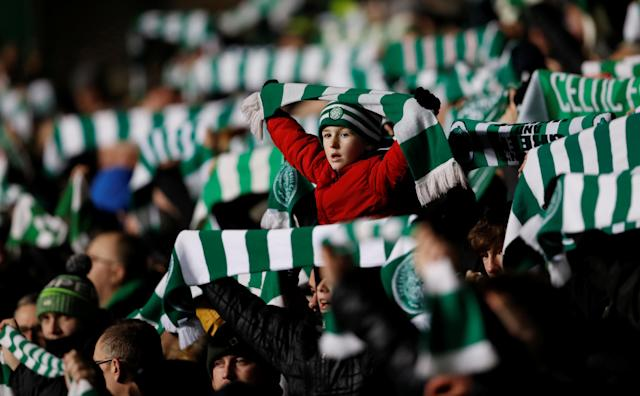 Soccer Football - Europa League Round of 32 First Leg - Celtic vs Zenit Saint Petersburg - Celtic Park, Glasgow, Britain - February 15, 2018 Celtic fans Action Images via Reuters/Lee Smith