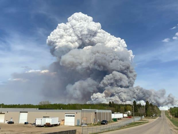 The fire is north of Prince Albert.