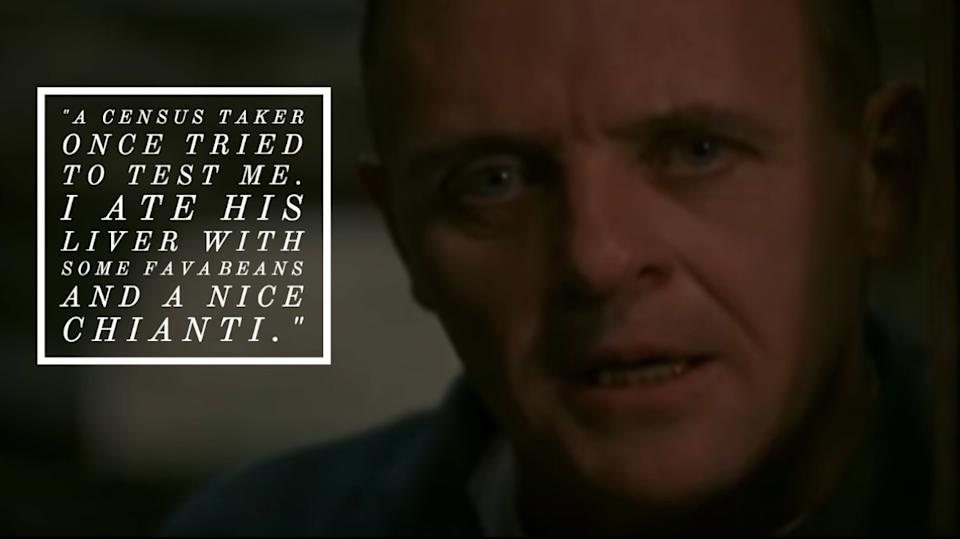 The Silence of the Lambs movie quote
